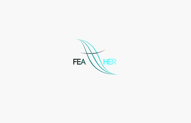 Beautiful Light Logo of Feather
