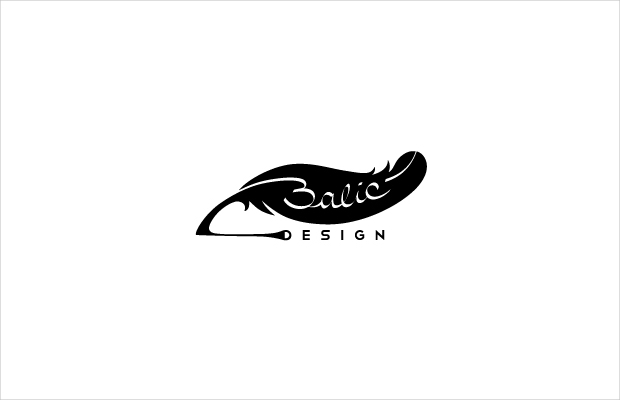 Elegant Design Feather Logo