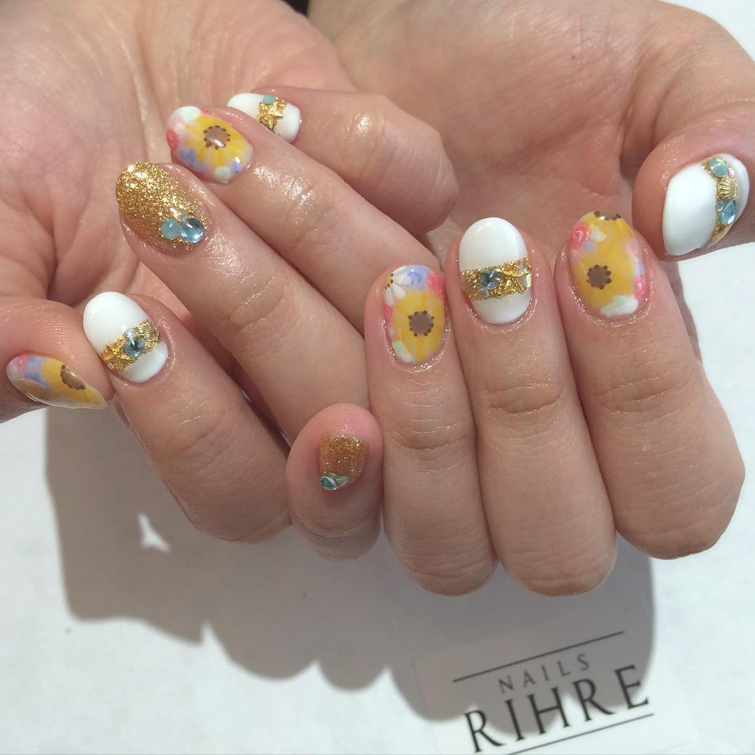 Summer Gel Nail Design For short Nails.