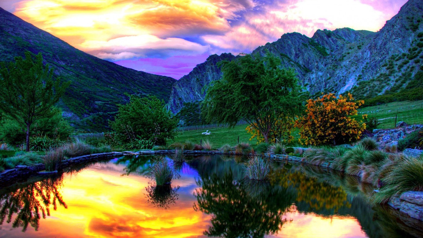 25 mountain wallpapers backgrounds images pictures - Peaceful background images ...