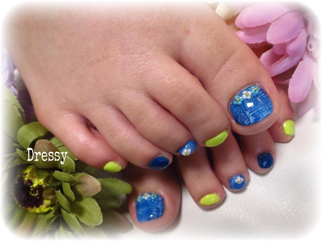 Toe Gel Nails Art For Summer