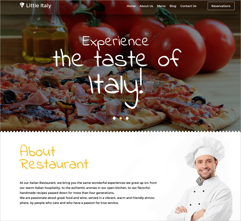 European Restaurant Template