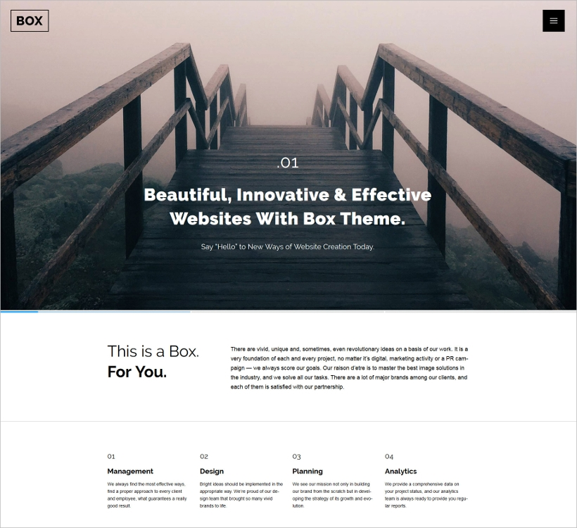 Minimal Website WordPress Theme