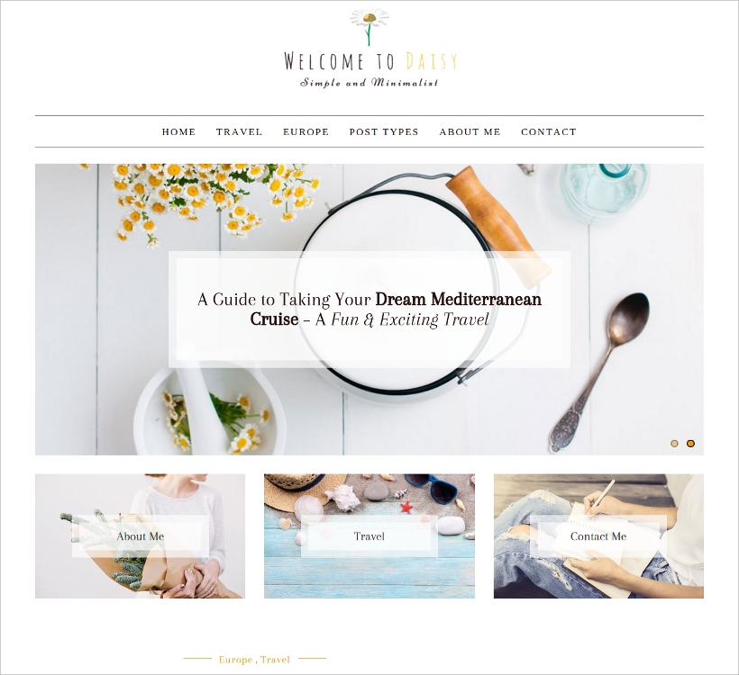Simple & Minimal WordPress Blog Theme
