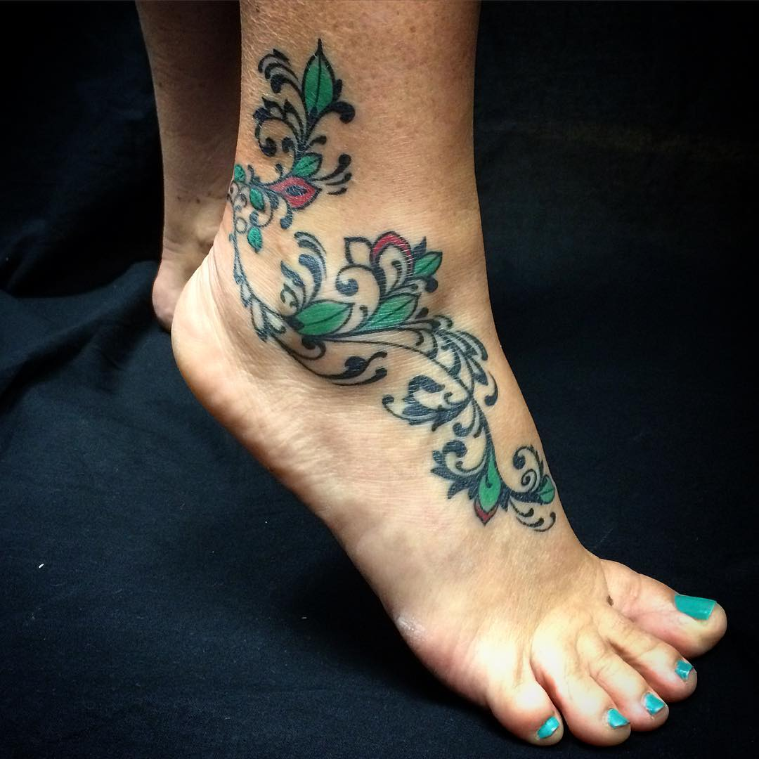 Color Ankle Tattoo