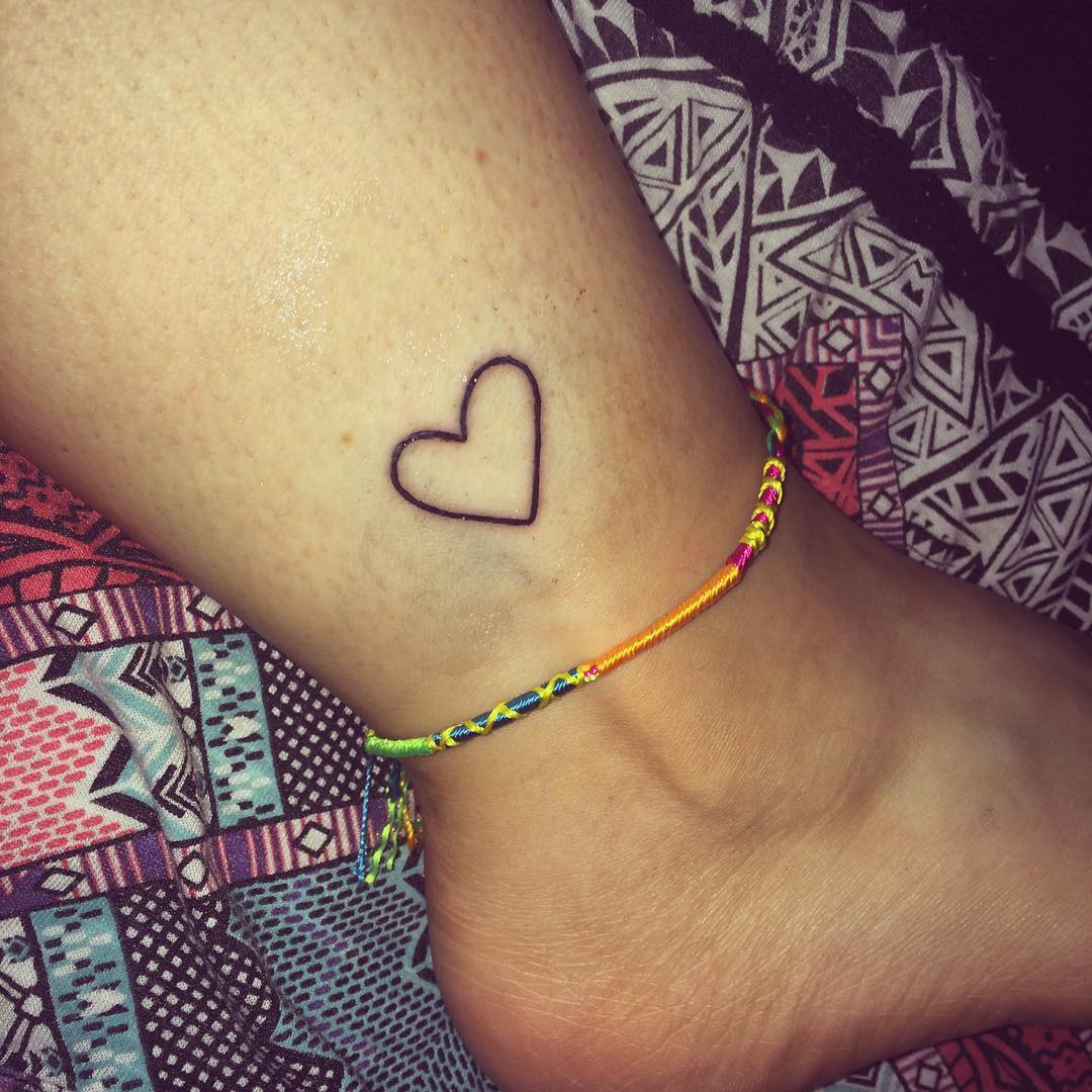 Nice Love Ankle Tattoo