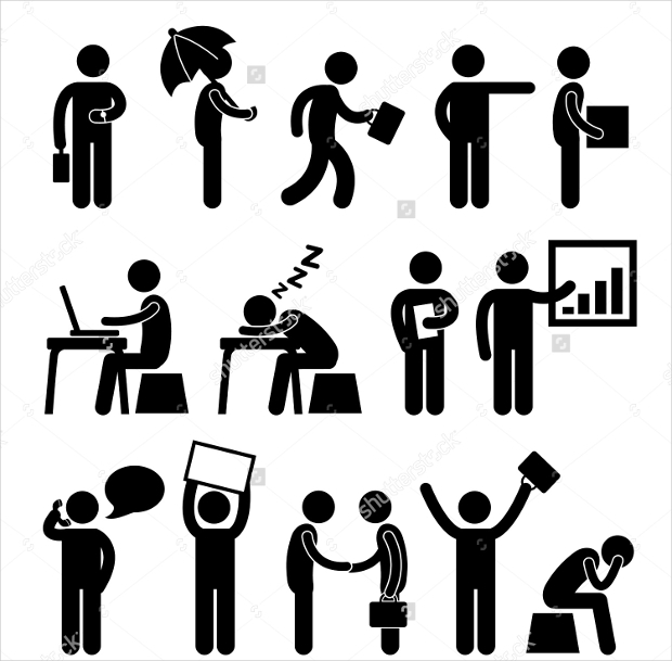 Office Workplace People Icons
