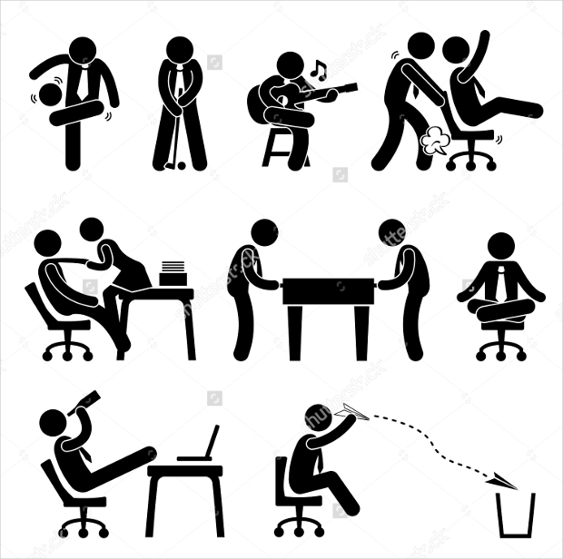 Workplace Fun Icon Set