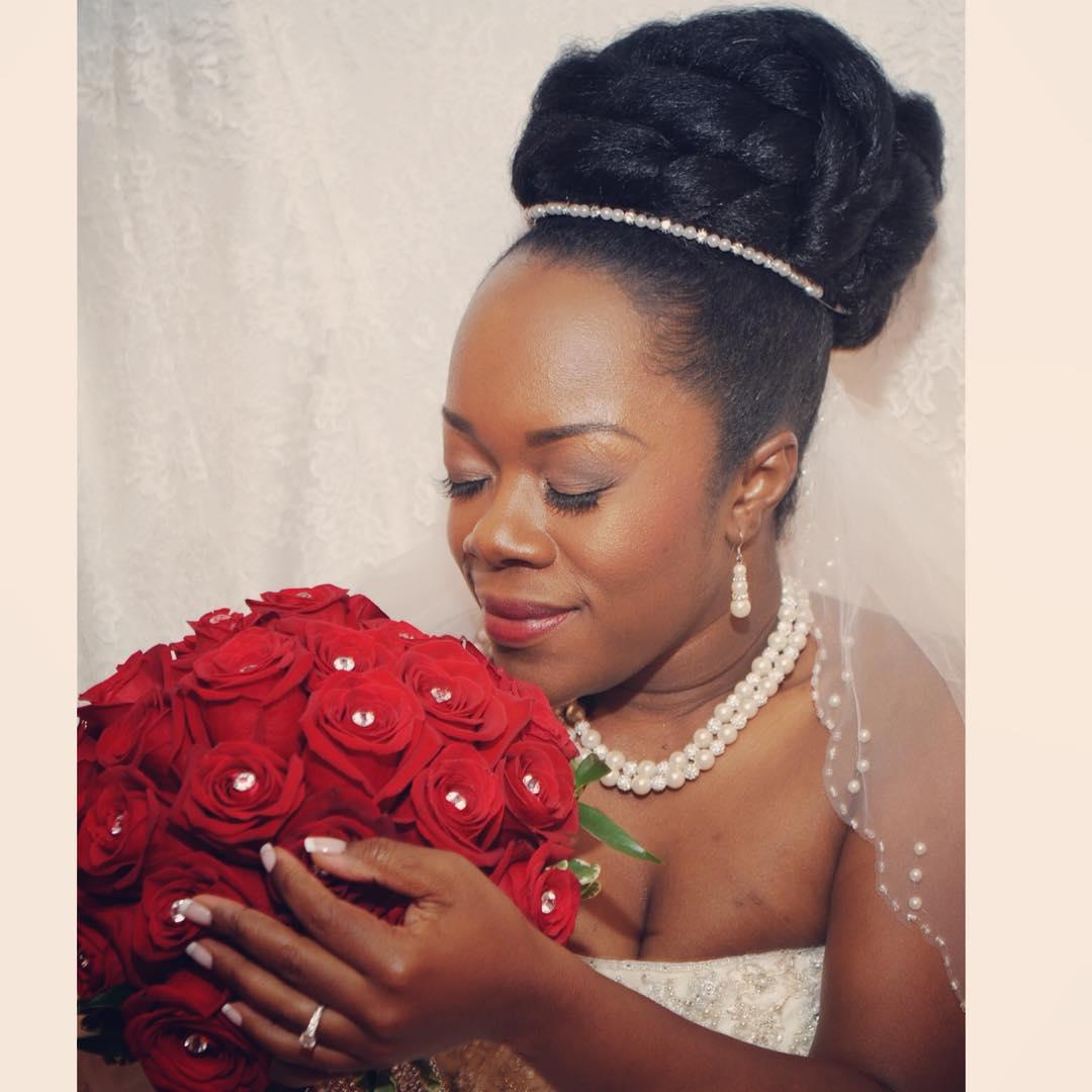 fabulous wedding hairstyle for black women