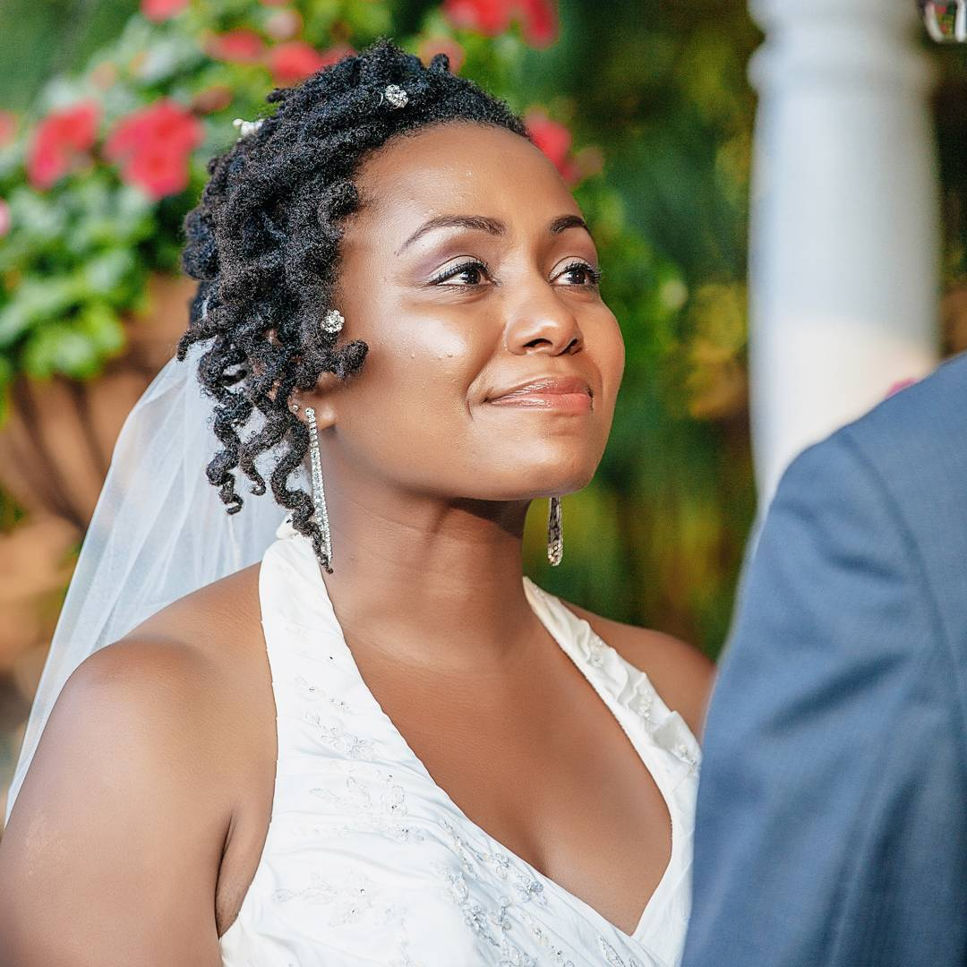 black natural twisted hairstyle for wedding