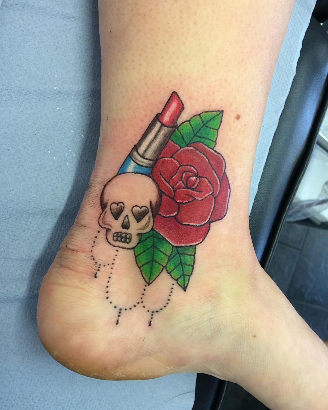 Skull - Rose Tattoo Design