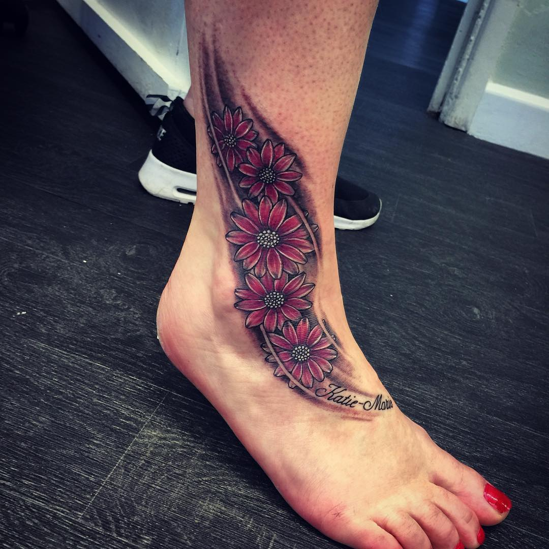 Wonderful Flower Tattoo
