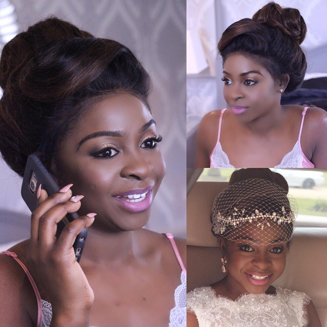 different classy afro bride hairstyle