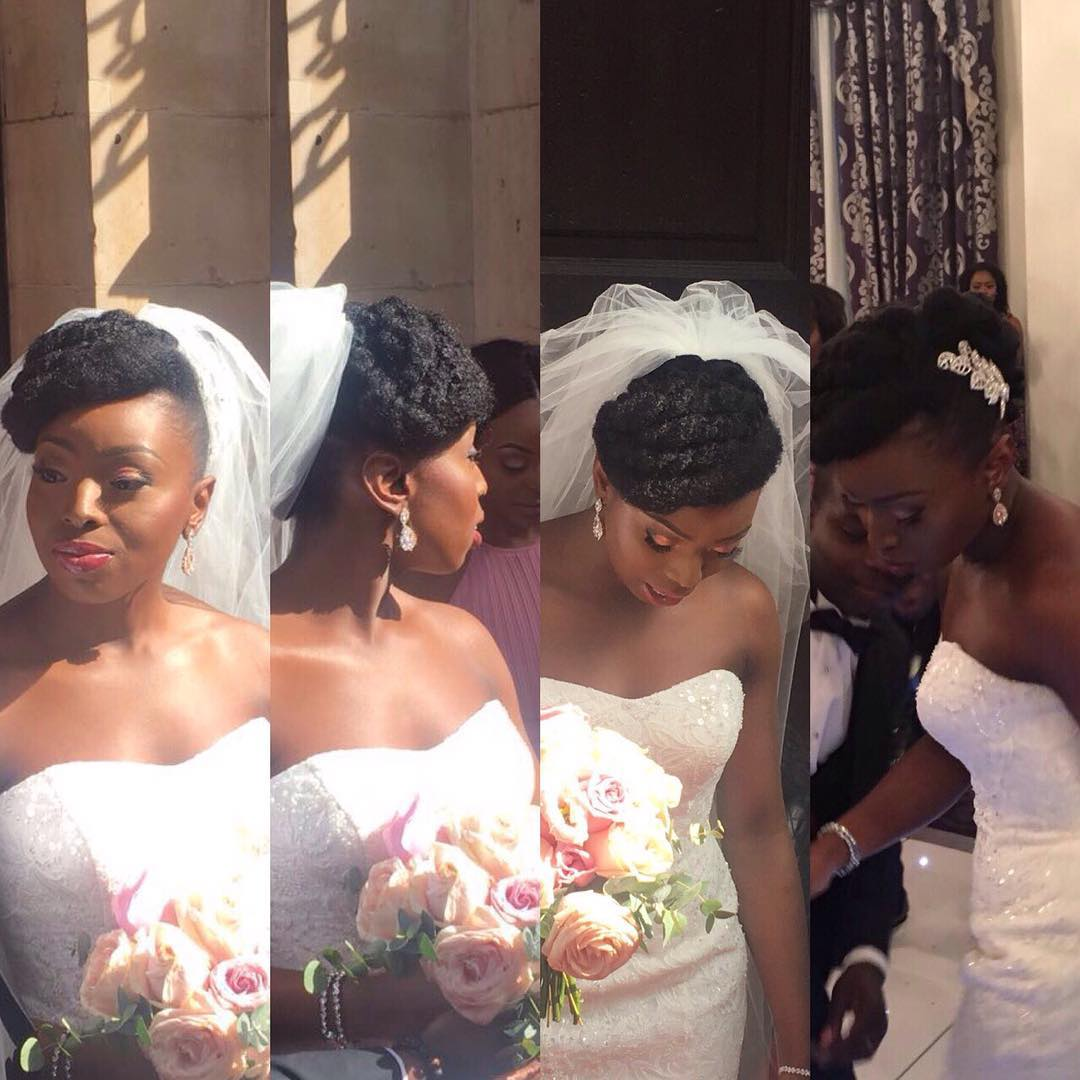 Twisted African Wedding Hairstyle