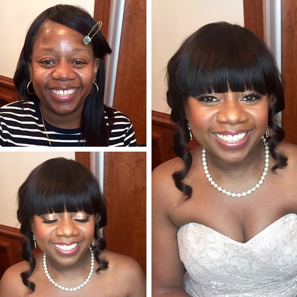 front bangs black hairstyle for women