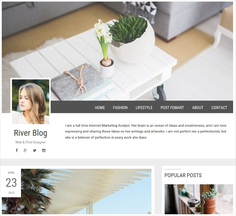 Elegant & Minimal WordPress Blog Theme