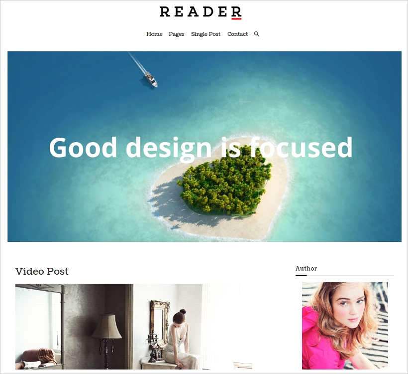 Minimal and Responsive WordPress Theme