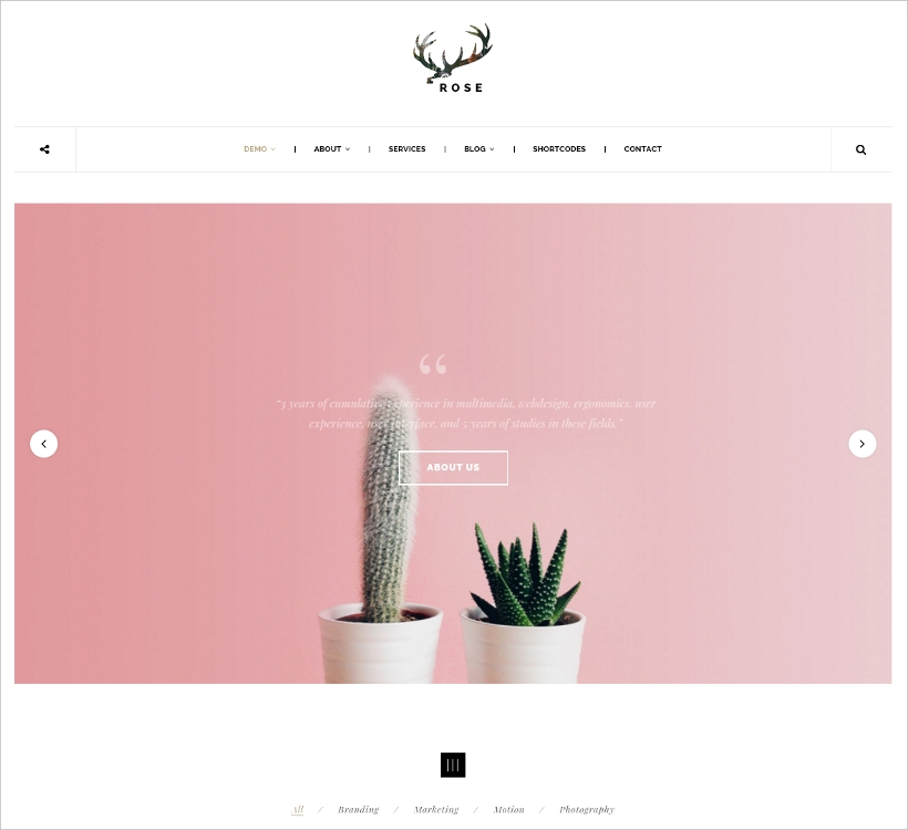 Minimal & Elegant WordPress Blog Theme