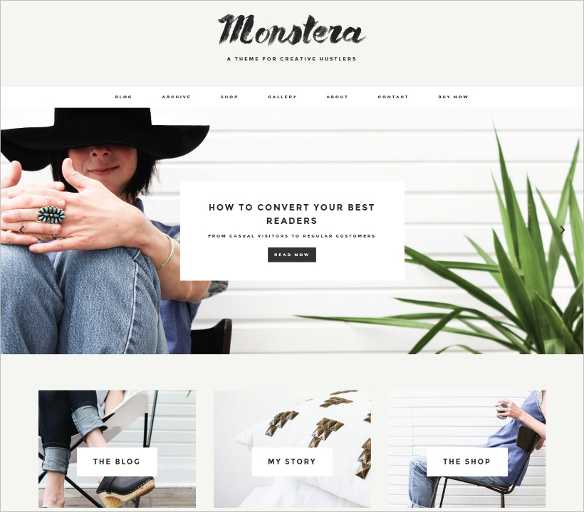 Monstera Minimalist WordPress Theme