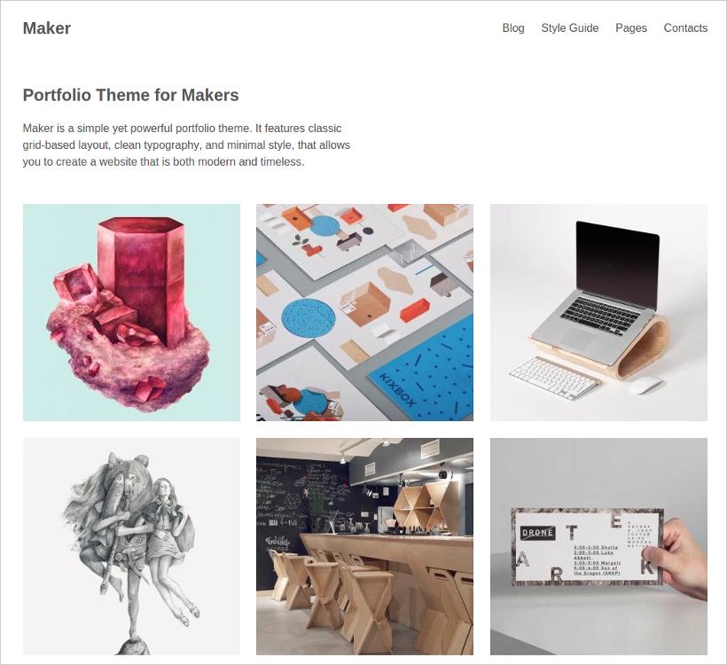 Portfolio WordPress Mnimalist Style Theme