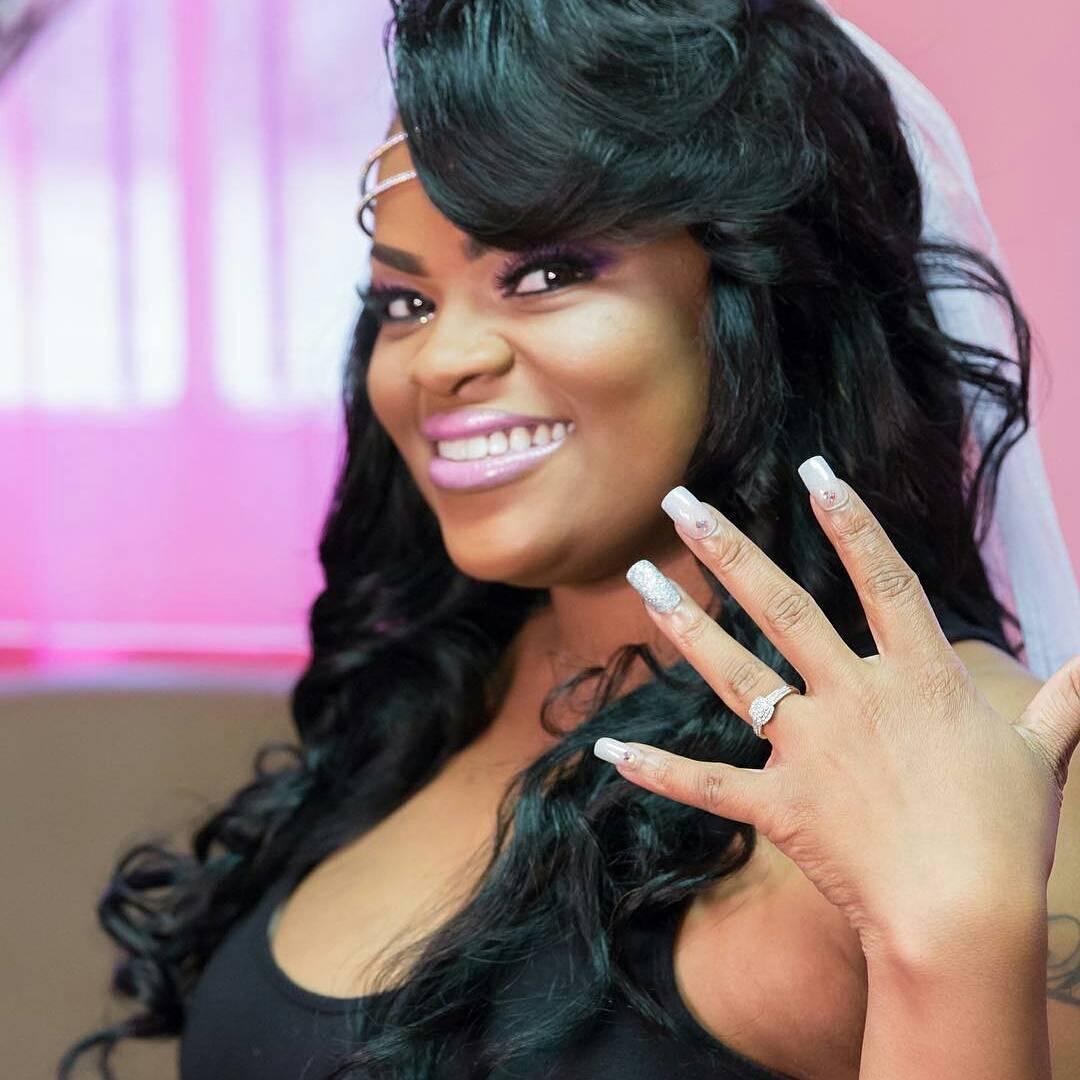 black medium layered wedding hair