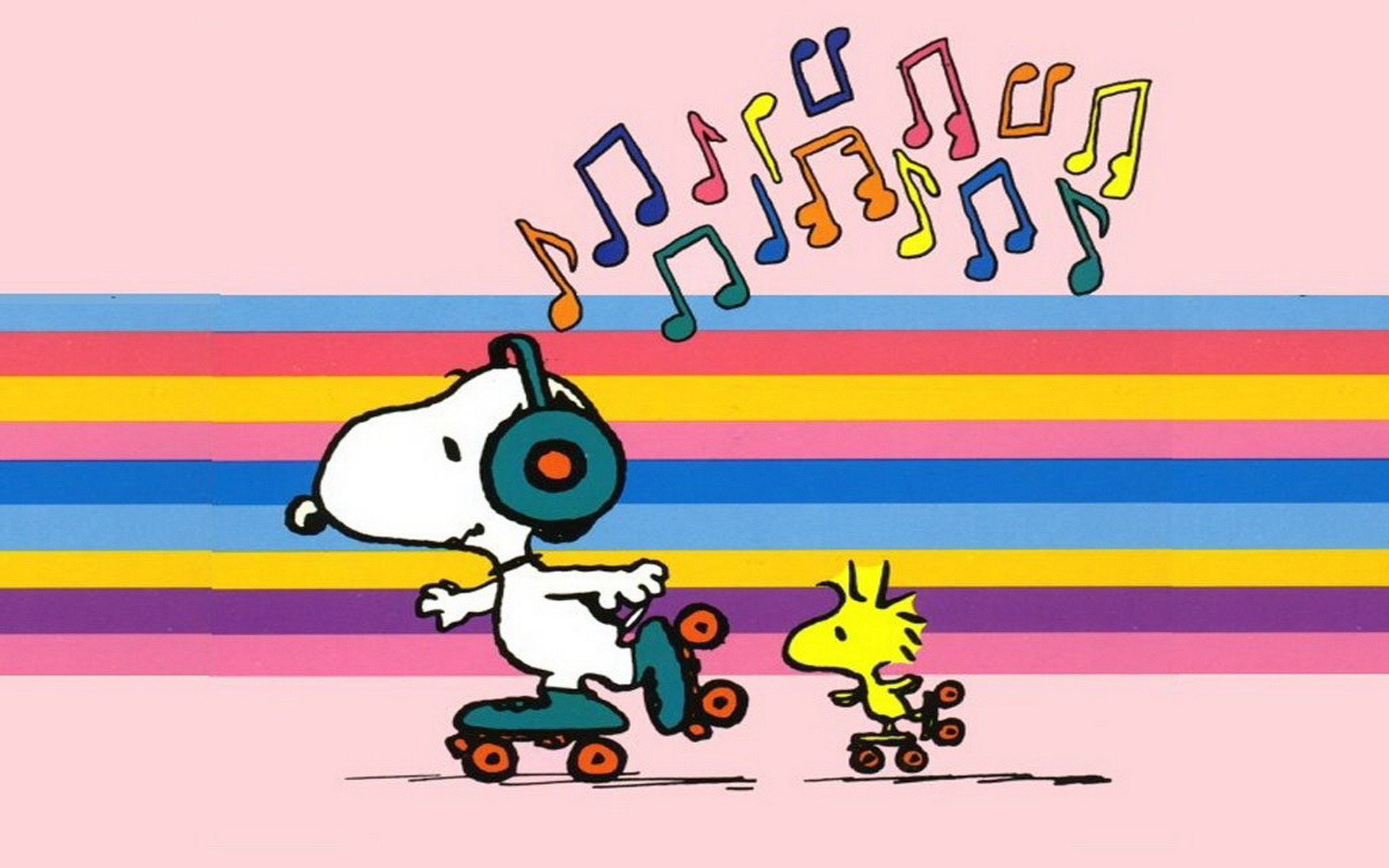 Snoopy Skating Wallpaper