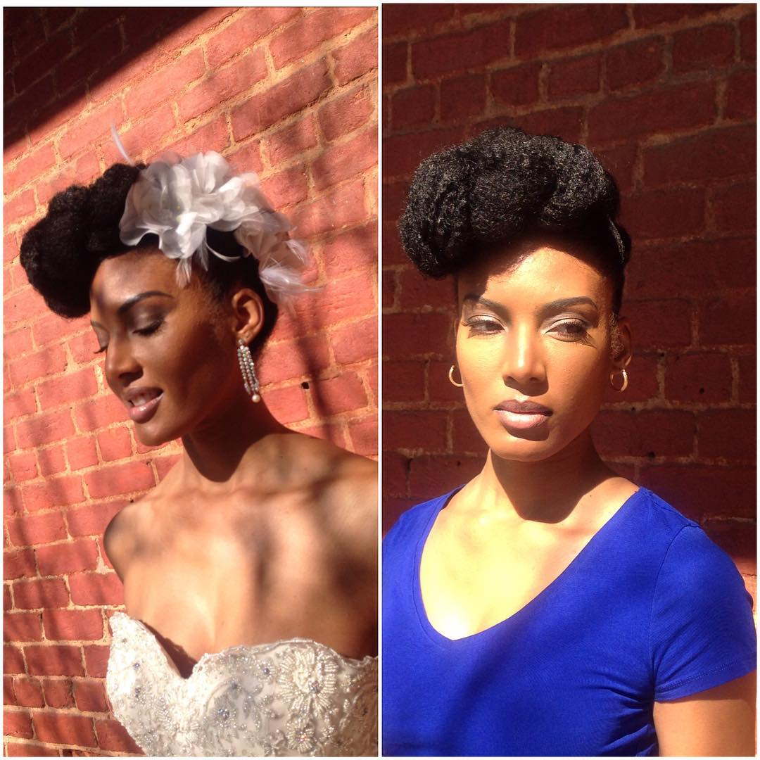 Natural Black Different Bridal Hairdo