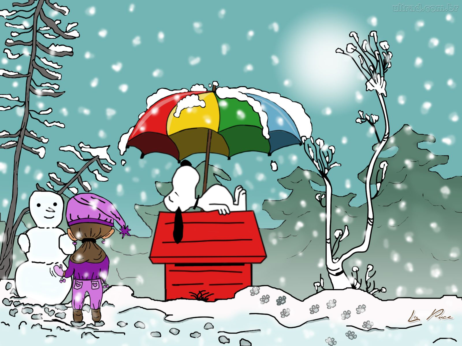 Snoopy Winter Wallpaper