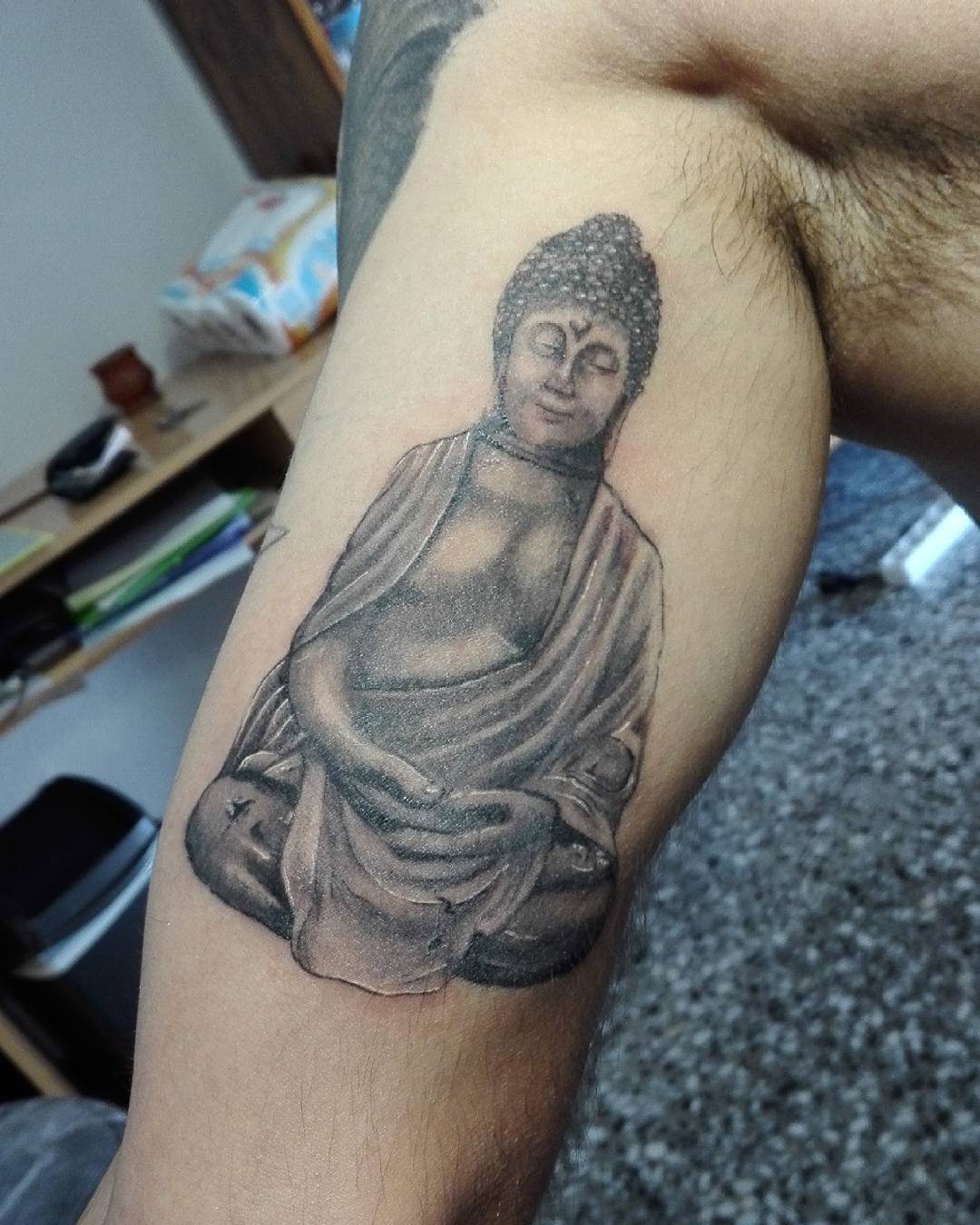 Beautiful Buddha Sleeve Tattoo