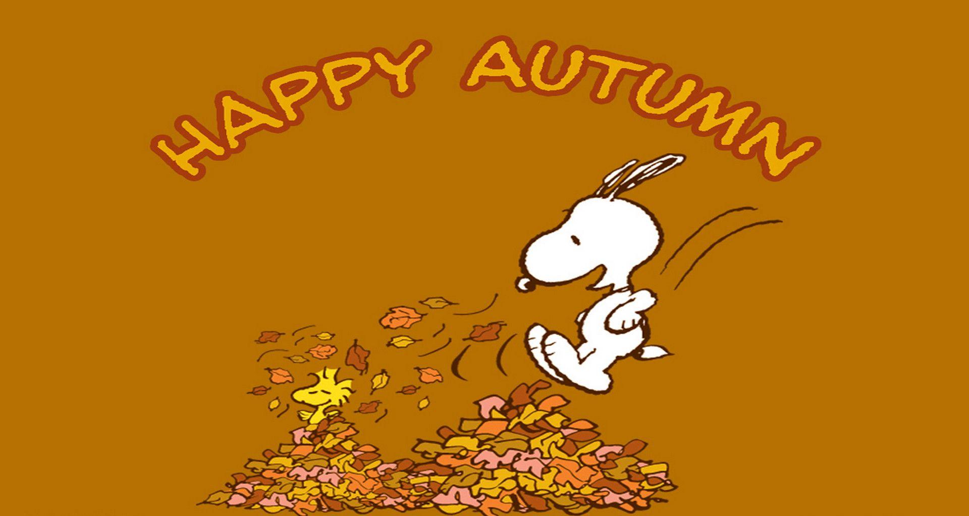 snoopy autumn wallpaper