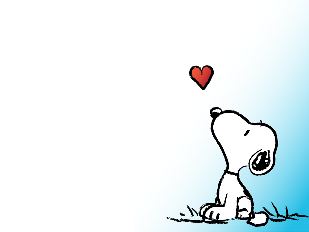 Snoopy love Wallpaper