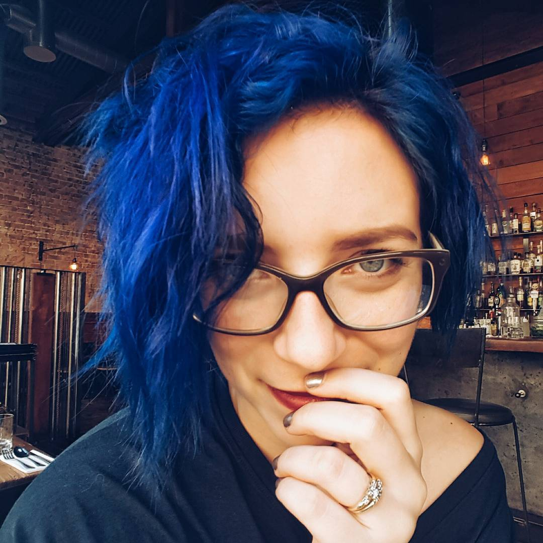 Blue Colored Messy Haircut For Girls