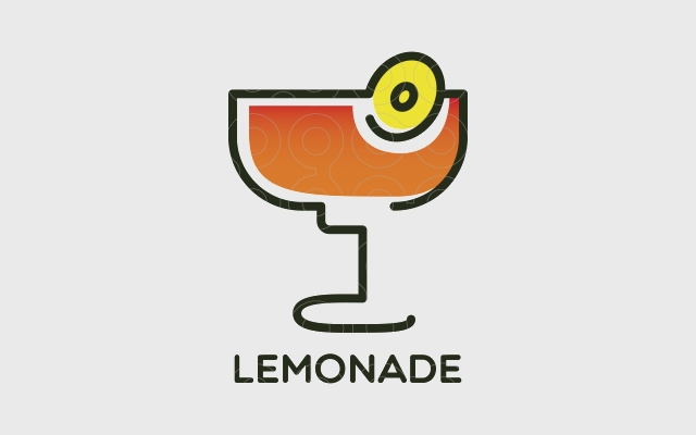 lemon logo for shops
