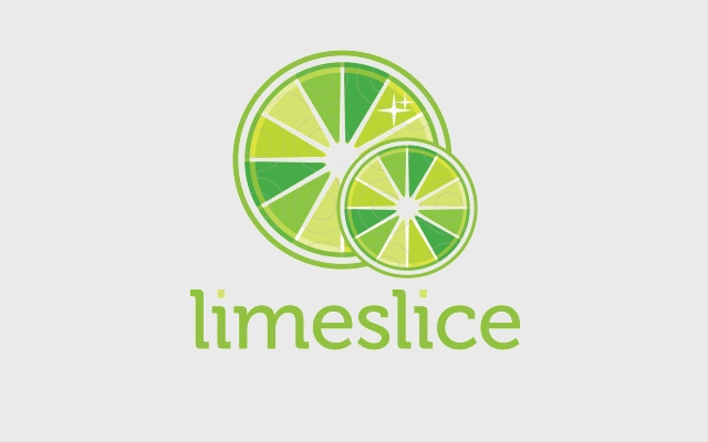 green lemon logo design