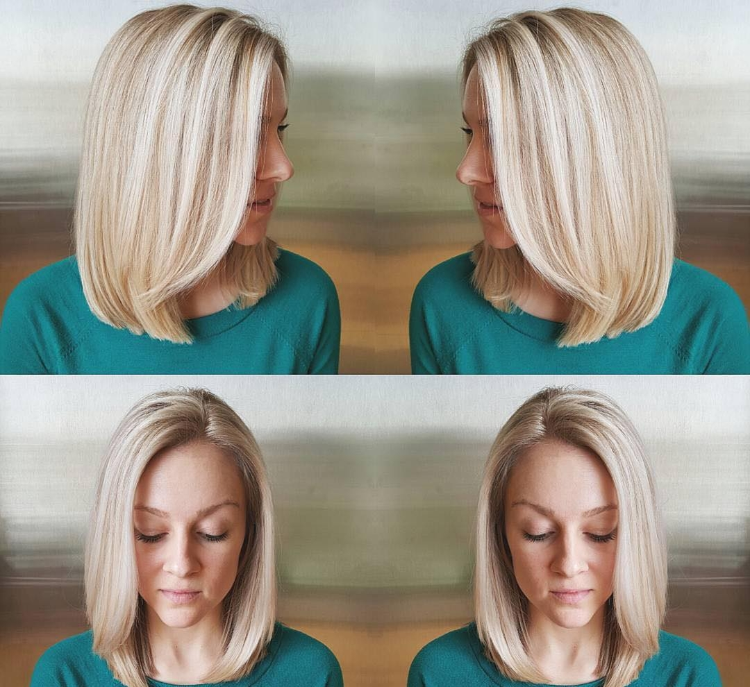 Blonde Blunt Bob Hairstyle Idea