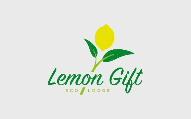 lemon gift logo design