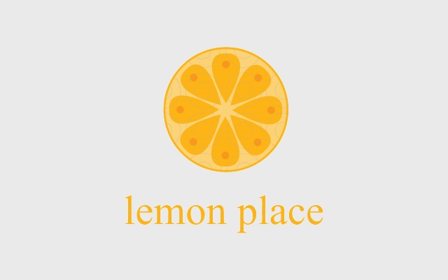 food location logo with lemon