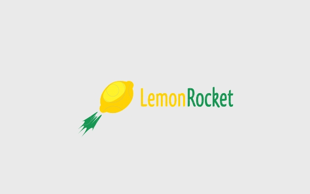 lemon rocket logo design