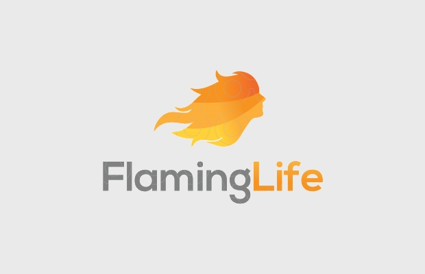 community logo design with flame