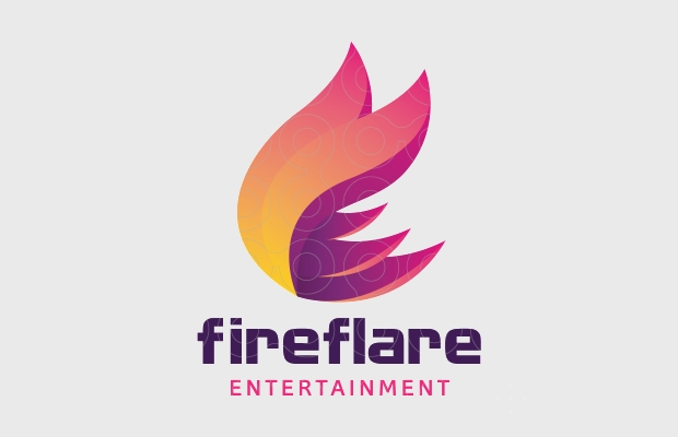 Bright Fire Logo for Entertainment
