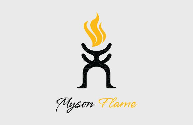 smoke fire logo design