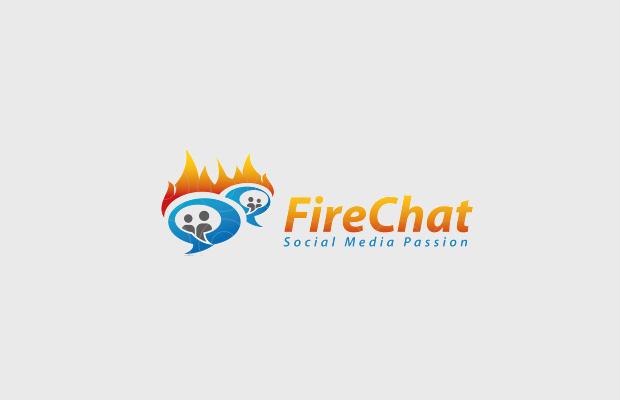 fire logo for social media