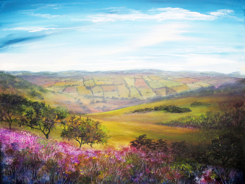 Fields Painting Wallpapers