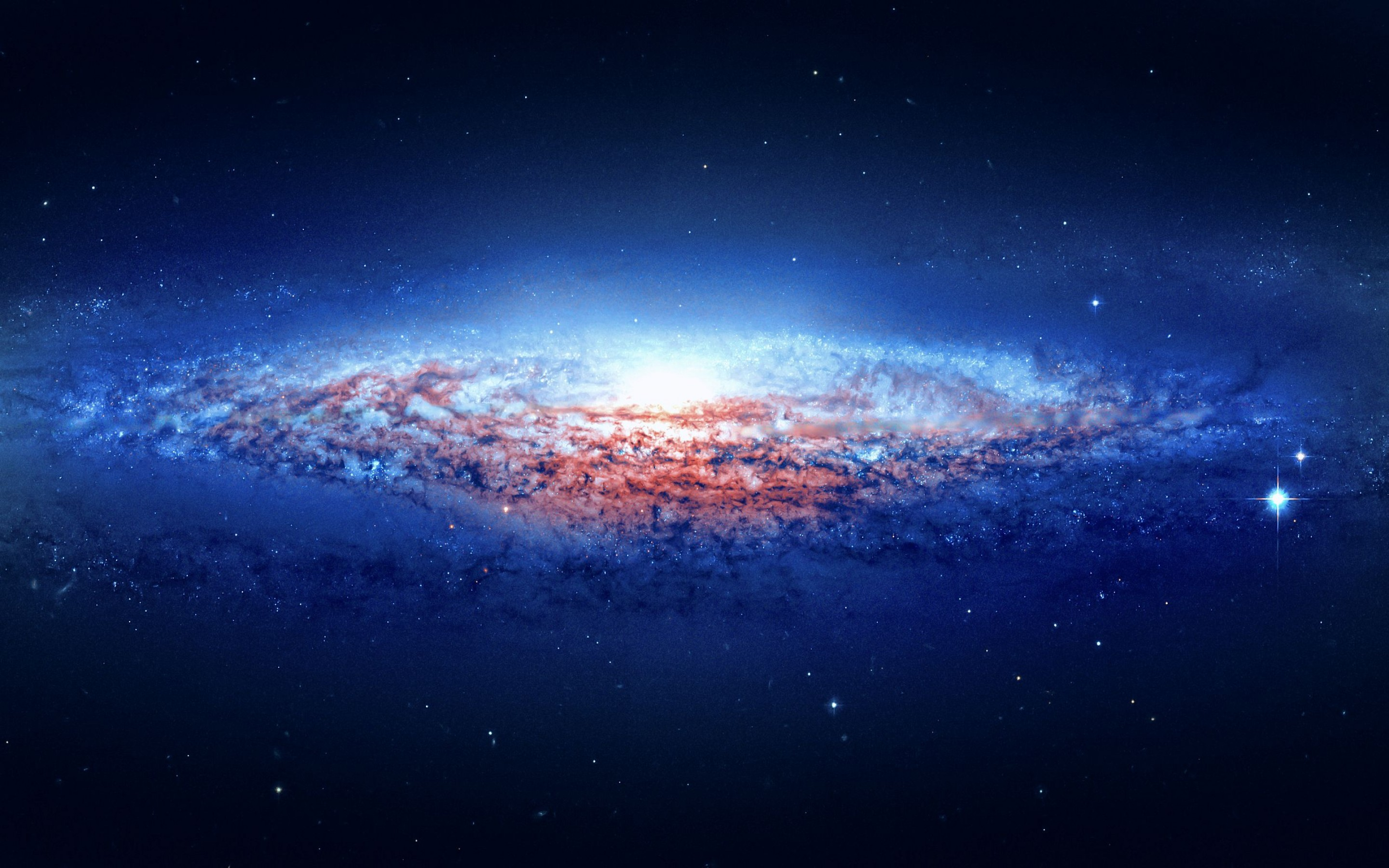 Blue Background Galaxy HD Wallpapers