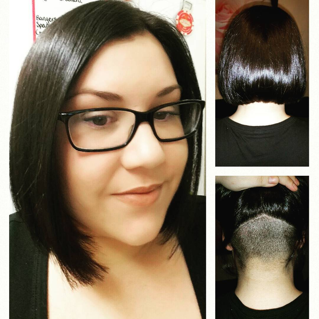 Black Blunt Chop Hairstyle