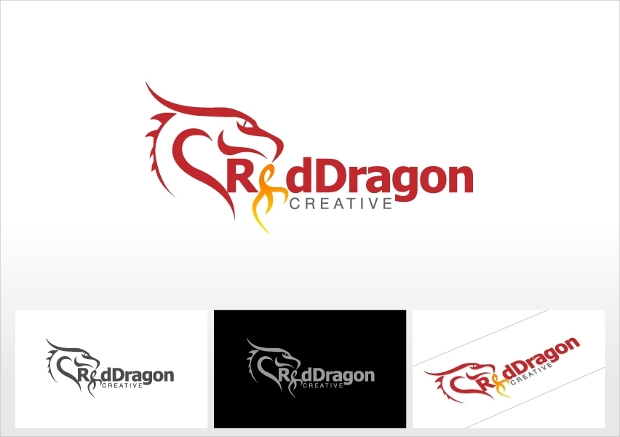 creative dragon logo