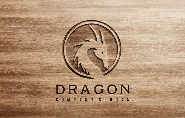 Elegant Dragon Logo Design