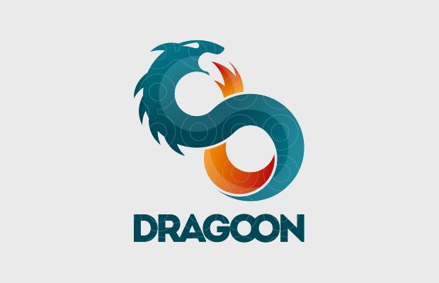fantasy dragon art logo
