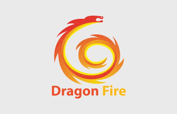 fire dragon logo design