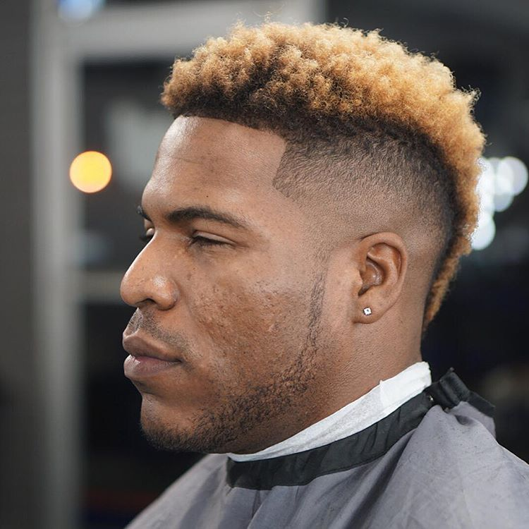 Curly Faux Hawk Hair For Black Men